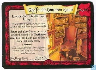 Harry Potter TCG Chamber of Secrets Gryffindor Common Room 27/140