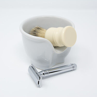 La Barbiera SHAVING BOWL ceramic white | UNIQUE design & FREE delivery