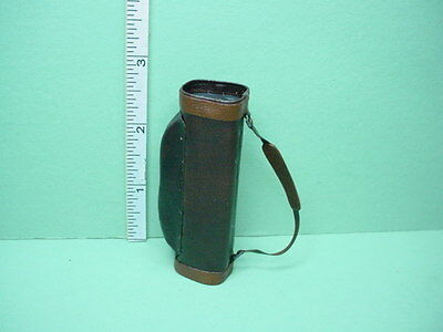 Dollhouse Miniature  Golf Bag Genuine Leather Brown- Handcrafted - 1/12th Scale