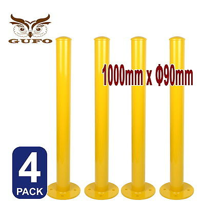 4x SECURITY BOLLARD SAFETY POST BARRIER PROTECT PARKING HEAVY STEEL