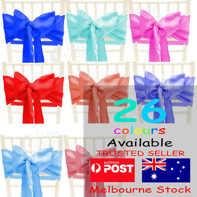 Satin Chair Sashes Cloth Cover Wedding Party Event Decoration Table Runner Multi