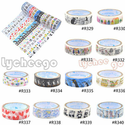 1X Cute Animals Decoration Washi Tape Sticker Scrapbooking Diary Note DIY Making
