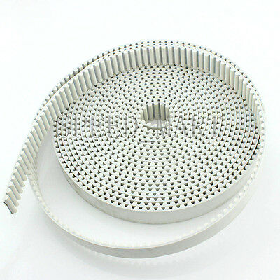 8M HTD8M Timing Belt White Polyurethane 30mm Width Open End cut to Length