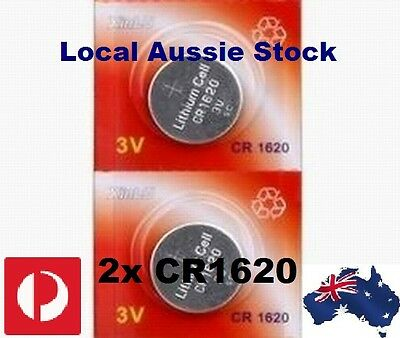 2x CR1620 3 Volt Lithium Button Cell Battery ECR CR EA 280 Retail Blister Pack