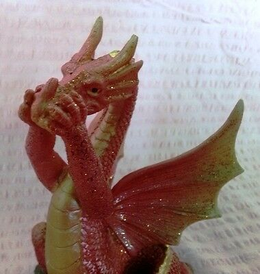 """Speak No Evil"" Dragon Statue Fantasy Mythical Gothic Magic Figure Home Ornament"