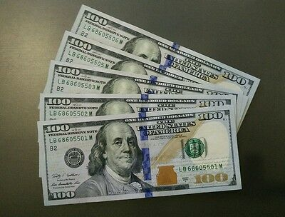 5 x 2009A $100 USD DOLLAR US USA AMERICA FRANKLIN UNC CURRENCY NOTE BILL MONEY