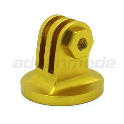 CNC Aluminum Tripod Camera Mount Adapter for All GoPro Hero 3+/3/2/1 - GOLD