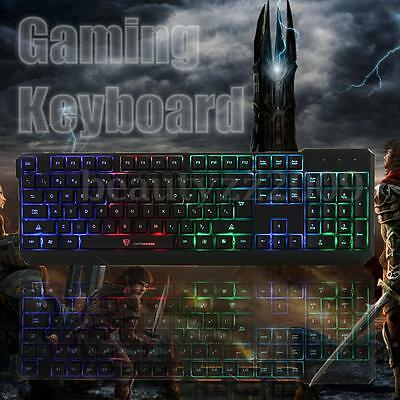 Clavier Filaire LED Lumineux Etanche USB Wired Keyboard Gamer Gaming Desktop PC