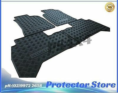 Toyota Hilux 2011-2015 Dual Cab Rubber Floor Mats Front & Rear New