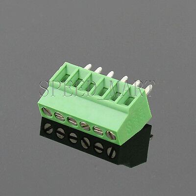 6 poles/6 Pin 2.54mm 0.1'' PCB Universal Screw Terminal Block Connector