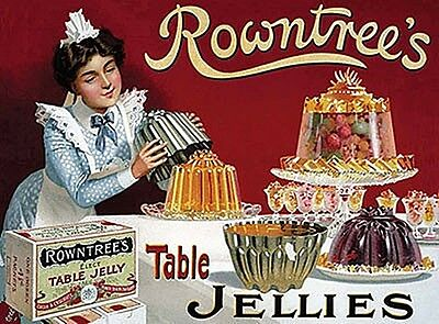 Rowntrees Jellies large metal sign 400mm x 300mm (og)