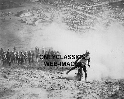 '24 Spectator Hill Climb Indian Motorcycle Race Photo Daredevil Racing Americana