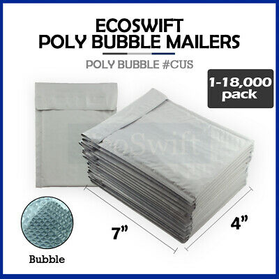 "1-18000 #0000 4x6 ""EcoSwift"" Small Poly Bubble Mailer Padded Envelope Bags 4 x 6"