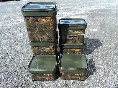 fox camo square bucket set of 6