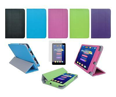 """Folio Skin Cover Case and Screen Protector for Ematic 7"""" HD EGQ337 Tablet"""