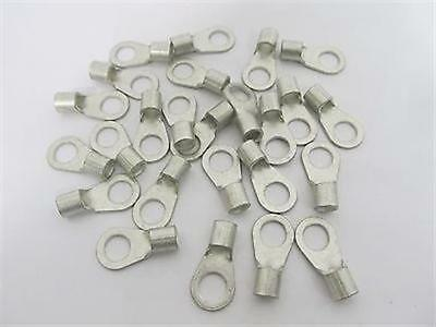 """Ring Terminals #6 AWG x 3/8"""" Stud, High Temperature, Non-Insulated - 25 each"""