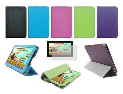 """Folio Skin Cover Case and Screen Protector for Double Power Dopo 9"""" GS918 Tablet"""