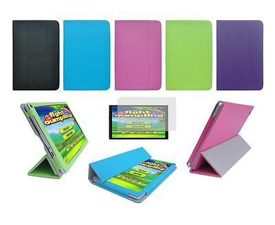 """Folio Cover Case and Screen Protector for Digital2 10"""" Pad Platinum D2-1061G1"""