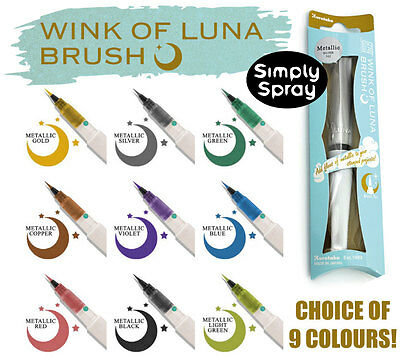 ZIG WINK OF LUNA BRUSH PENS: Choice of 9 Different Metallic Colour Markers
