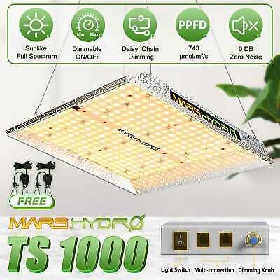 2PCS Mars 300W Led Grow Light Indoor Plants Full Spectrum Panel Hydro Gardening