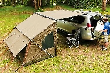 Rhino Roof Rack Sunseeker Awning & Tagalong Tent Camping Tent 32105 RV5T
