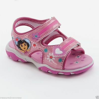 Nickelodeon's Dora The Explorer Light Up Open Toe Sandals ~ Pick Your Size ~ NWT