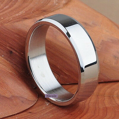 Cool Solid TITANIUM Polish Wedding Band Ring Size 7-11 RM07