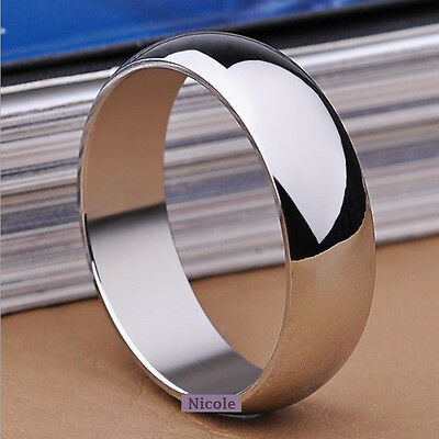 Solid TITANIUM Stainless Polish Wedding Band Ring Size 7-11 RM09