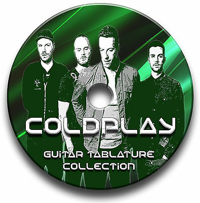 Coldplay Rock Guitar & Keyboard Tabs Tablature Song Book Library Software Cd