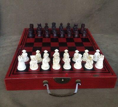 Vintage Terracotta Warrior International Chess Set collectable christmas gift