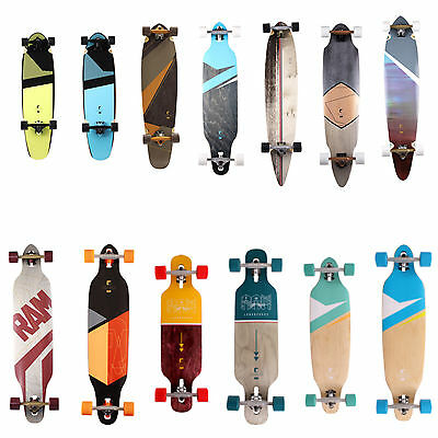 RAM Longboard Skateboard Komplettboard Long Board Drop Through Surfboard Flex