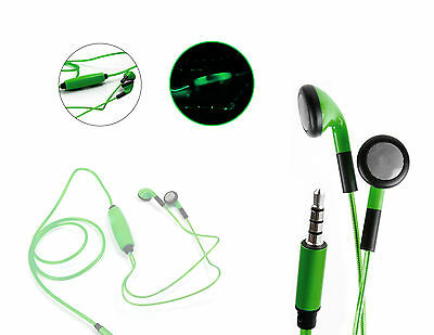 Neon Green Light-Up Rechargeable Earphones for Sony NW-A20 / NW-AH25N Walkman