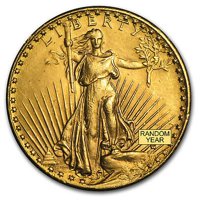 $20 Saint-Gaudens Gold Double Eagle - Random Year - Cleaned - SKU #9120