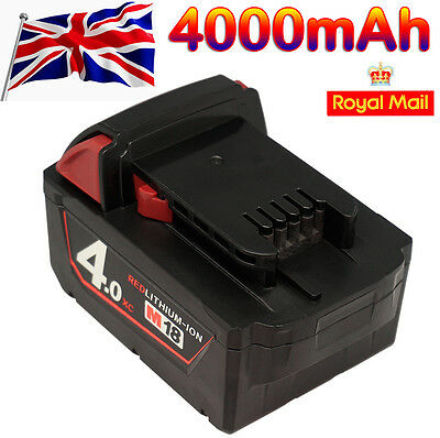 18V 4000mAh 4.0Ah Replace LI-ION Battery for Milwaukee M18 XC Red Lithium-Ion