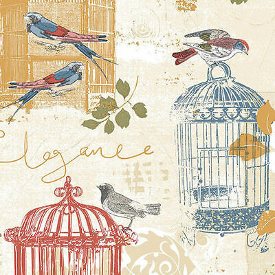 Bird & Birdcage KE29945 French Country Wallpaper DOUBLE room