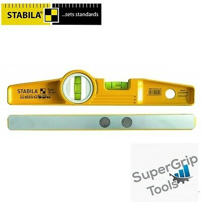 STABILA 81SM 250mm Magnetic Scaffolders Torpedo Level with Holster - 02511