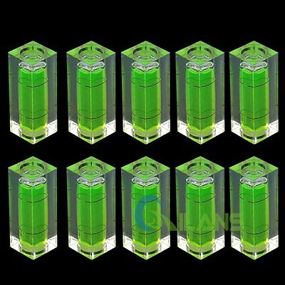 10 Pcs Cube Bubble Spirit Level Tool for Camera Tripod Measuring and Normal Use