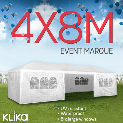 NEW LARGE 4x8 GAZEBO PARTY WEDDING TENT OUTDOOR EVENT CANOPY MARQUEE