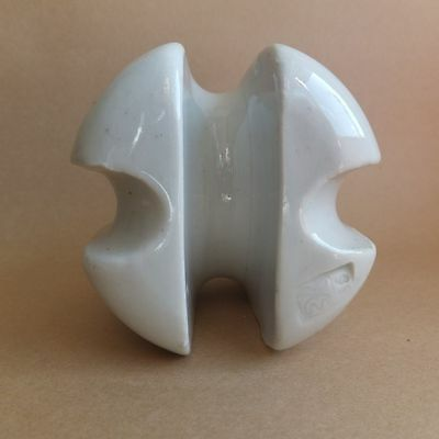 Old Vintage Ceramic Porcelain Double Cable Insulator made in USSR