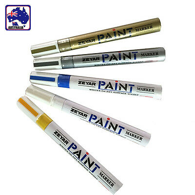 Car Marker Motorcycle Tyre Motor Cycle Tire Tread Paint Pen White Blue VXPAN 83