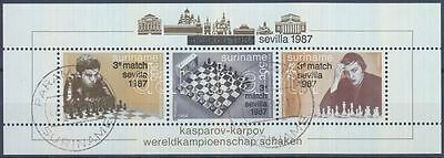 Suriname stamp Chess World Cup block 1987 Used Mi 46 WS188767
