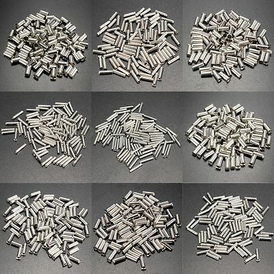 Pack of 100 Uninsulated Bootlace Ferrule Cord Tin End Terminal Crimp 0.5-16mm²