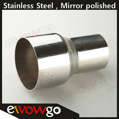 """2"""" Inch To 3"""" Inch Weldable Turbo/exhaust Stainless Steel Reducer Adapter Pipe"""