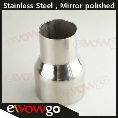 """2.5""""  To 3.5"""" Inch Weldable Turbo/exhaust Stainless Steel Reducer Adapter Pipe"""