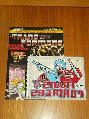 Transformers #3 Oct 18Th - Oct 31St 1984 British Weekly With Gift High Grade