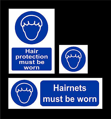 Hairnets / Hair Protection Must Be Worn - All Sizes & Materials - Food & Hygeine
