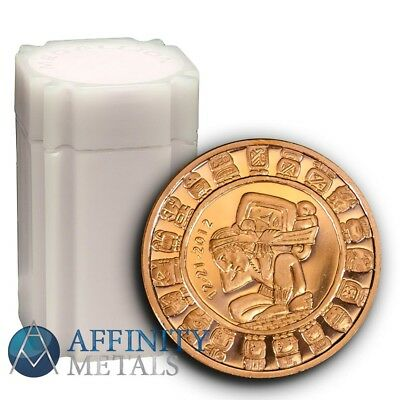 20 Coins-  Mayan Calendar 1 oz .999 Copper Bullion Rounds
