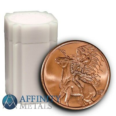 20 Coins- American Indian Series Red Horse 1 oz .999 Copper Bullion Rounds