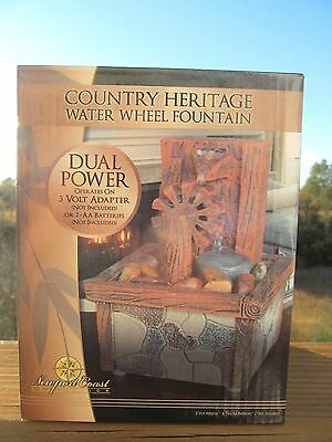 Newport Coast Collection Country Heritage Water Wheel LED Fountain Decor Gift