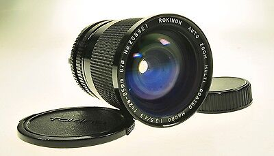 Minolta Md Mount Rokinon Auto Zoom 28-85mm F3.5-4.5 Camera Lens - Fungus -